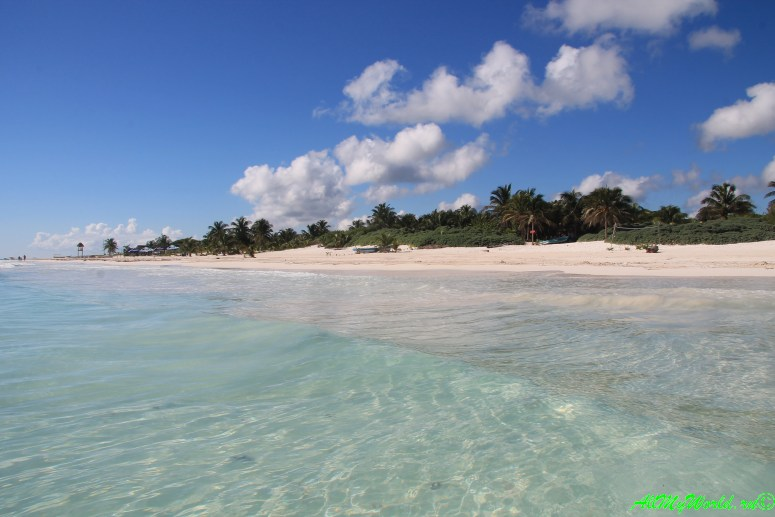 Лучшие пляжи мира - пляж возле археологического парка Тулум, Мексика