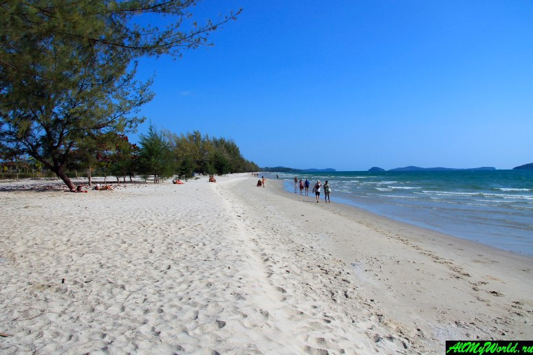 Камбоджа: пляжи Сиануквиля - Пляж Отрес (Otres Beach)