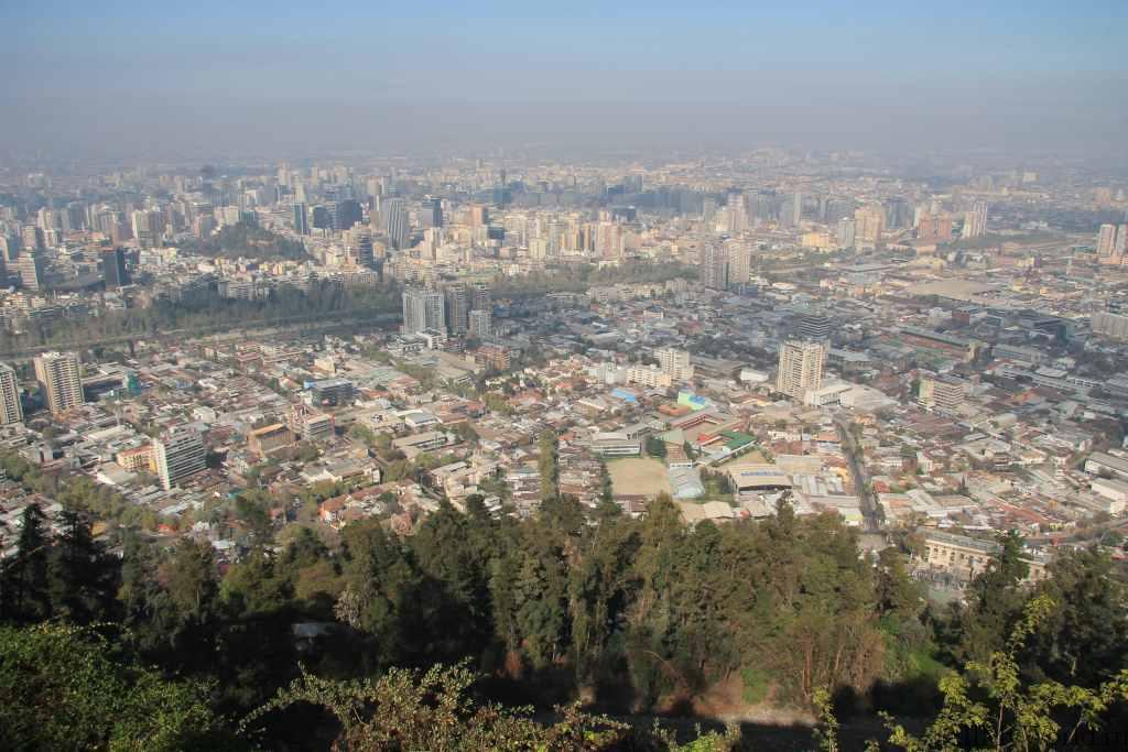 Сантьяго-де-Чили холм Сан-Кристобаль