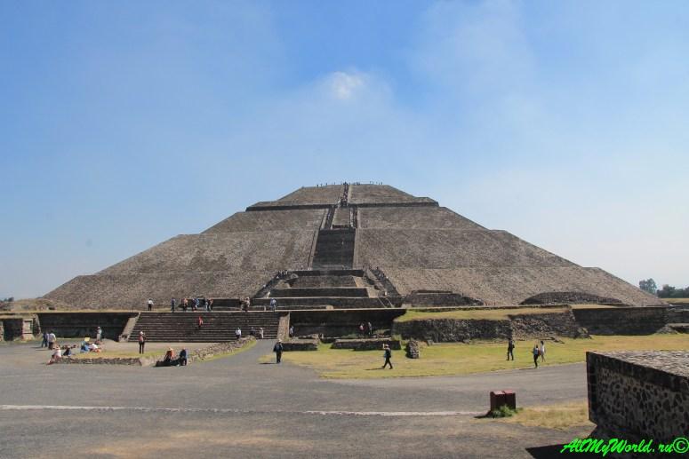 города ацтеков Теотиуакан пирамида Солнца фото