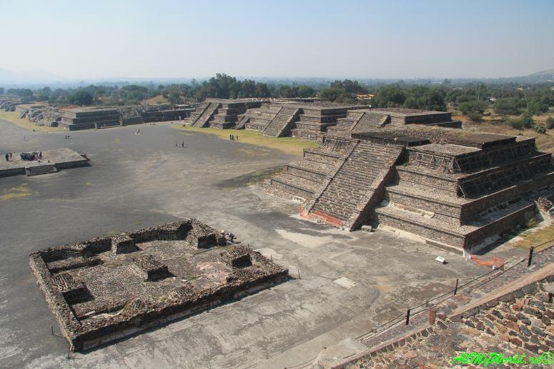 города ацтеков Теотиуакан пирамида Луны фото