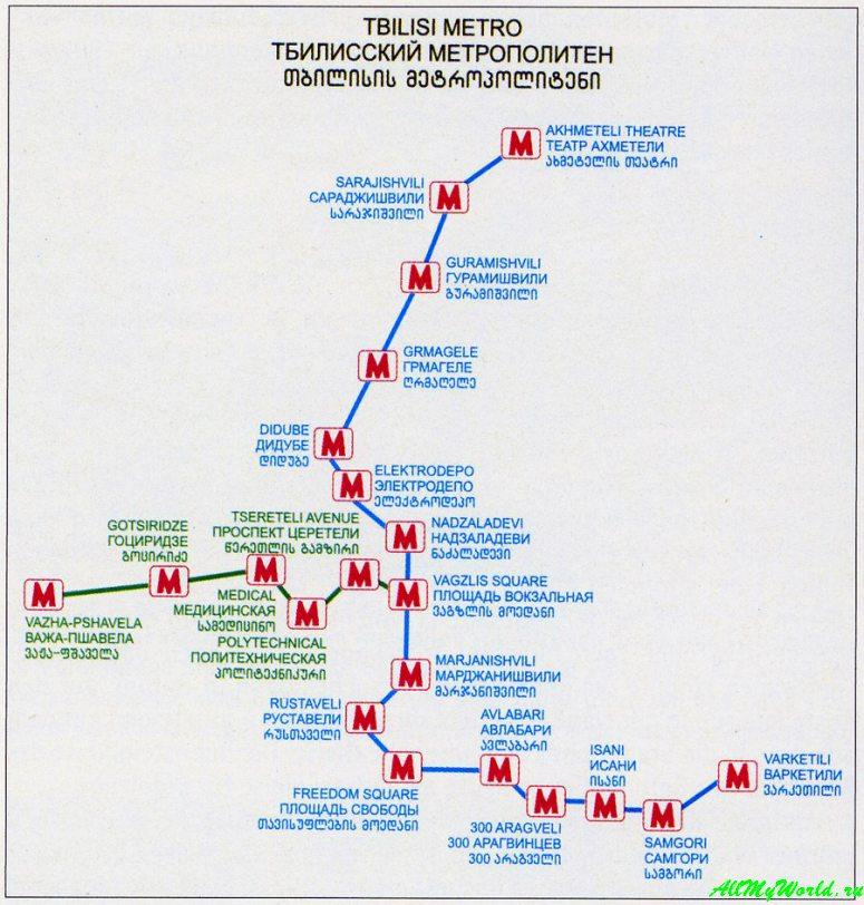 Грузия: городской транспорт в Тбилиси