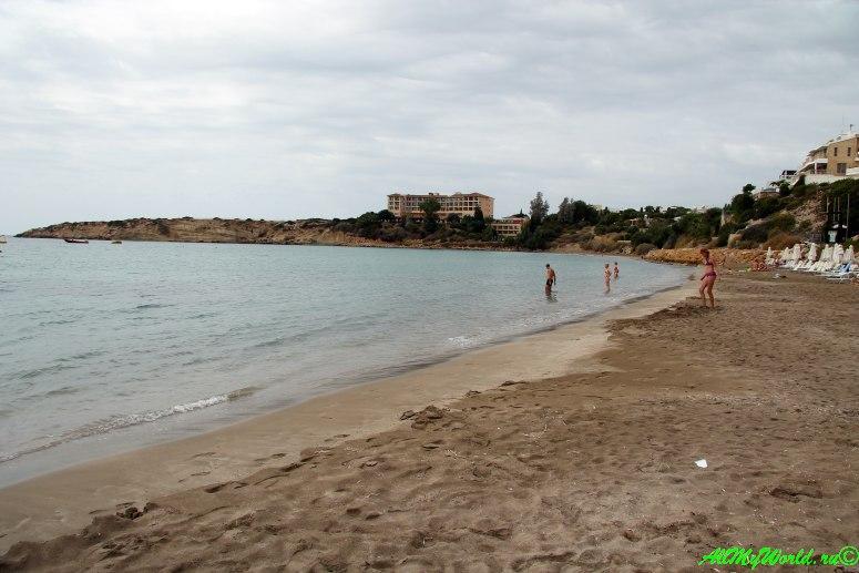 Кипр Пафос пляж Корал Бей фото