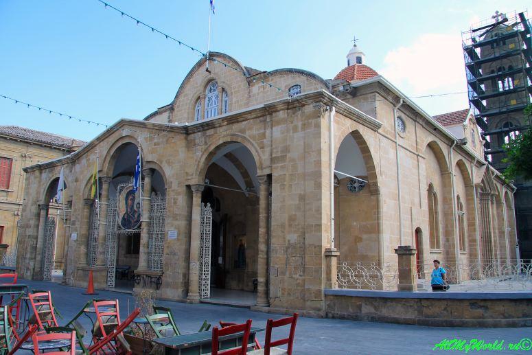 город Никосия, столица Кипра - греческая часть церковь Фанеромени