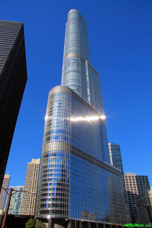 США, город Чикаго: достопримечательности и фото - башня Трампа (Trump Tower)
