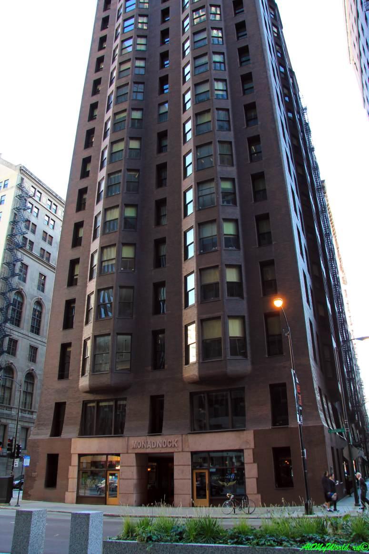 США, город Чикаго: достопримечательности и фото - небоскреб Монаднок (Monadnock Building)
