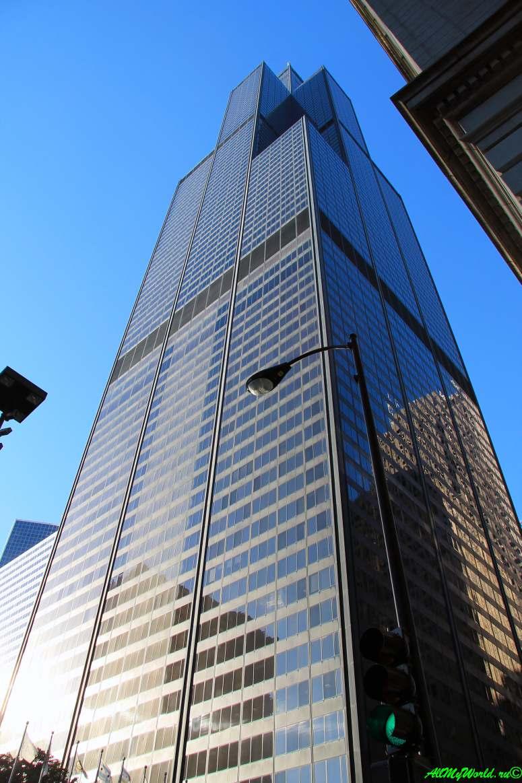 США, город Чикаго: достопримечательности и фото - небоскреб Willis-tower (бывший Siers-tower)