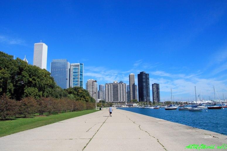 США, город Чикаго: достопримечательности и фото - озеро Мичиган