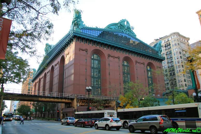 США, город Чикаго: достопримечательности и фото - библиотека имени Гарольда Вашингтона (Harold Washington Library)