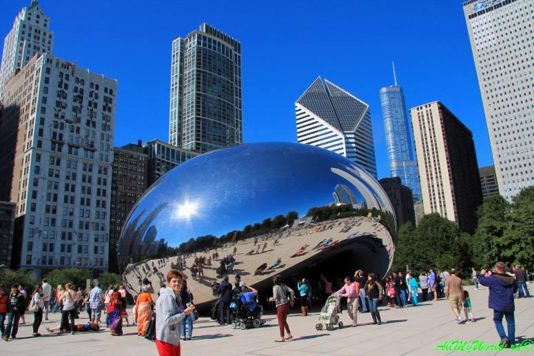 """США, город Чикаго: достопримечательности и фото - скульптура """"Облачные врата"""" (Cloud gate)"""