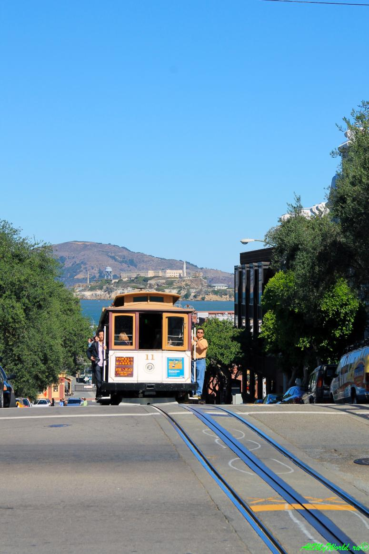 США, город Сан-Франциско - достопримечательности и фото - Русские Холмы Russian Hills и кабельный трамвай