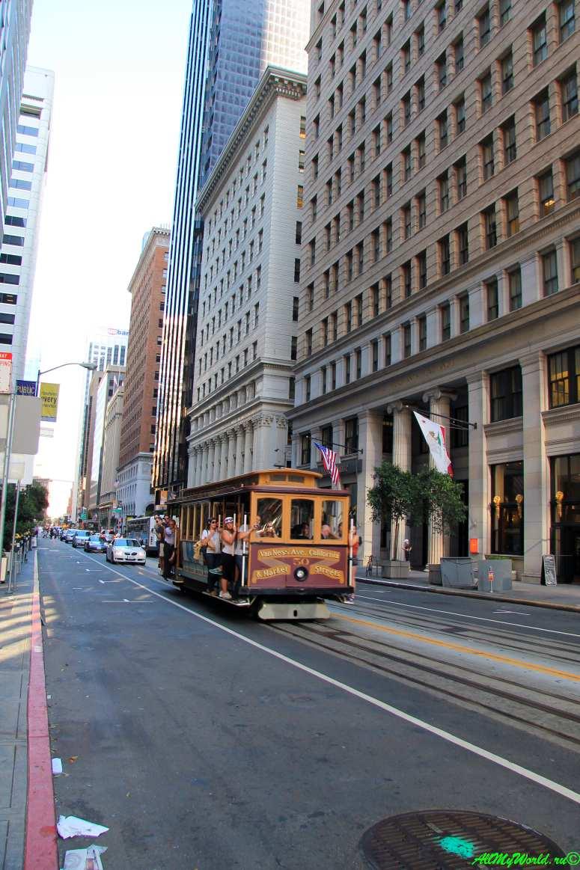 США, город Сан-Франциско - достопримечательности и фото - кабельный трамвай на Маркет-стрит