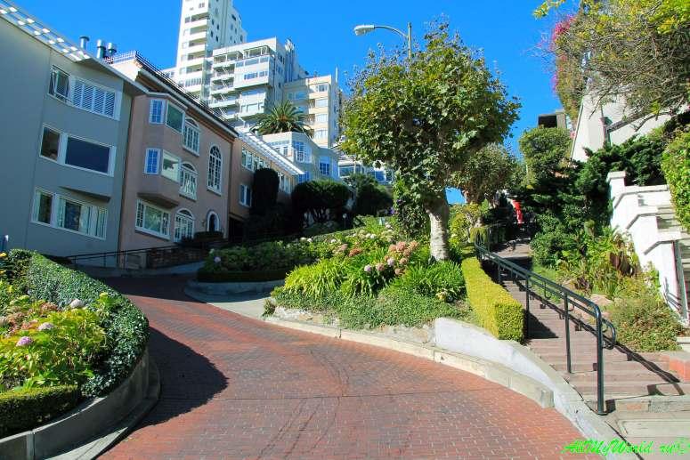 США, город Сан-Франциско - достопримечательности и фото - улица Ломбард Lombard street