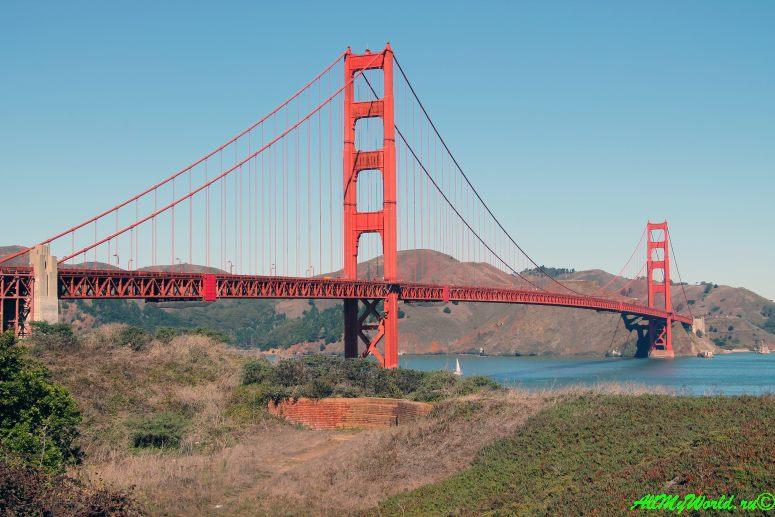 США, город Сан-Франциско - достопримечательности и фото - мост Золотые Ворота (Golden Gates)