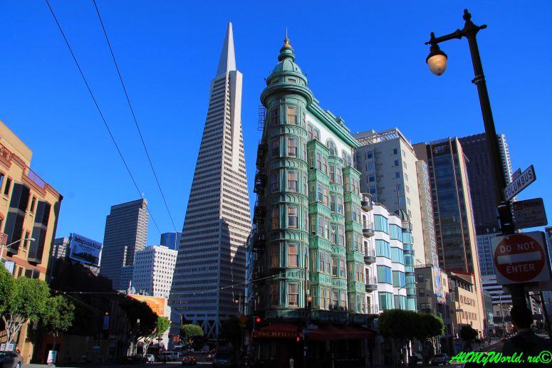 США, город Сан-Франциско - достопримечательности и фото - Трансамериканская пирамида Transamerica Pyramid