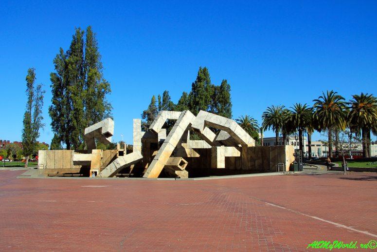 США, город Сан-Франциско - достопримечательности и фото - Центр Эмбаркадеро и фонтан Армана Велланкура