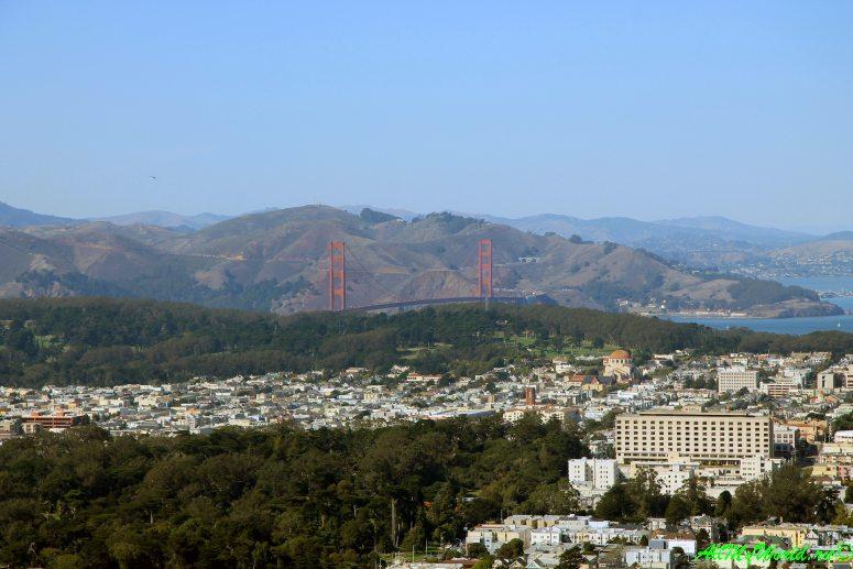 США, город Сан-Франциско - достопримечательности и фото - холмы Твин Пикс (Twin Peaks)