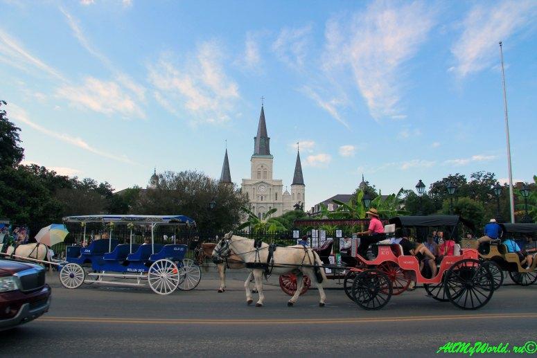 США, город Новый Орлеан - базилика Сент-Луи фото