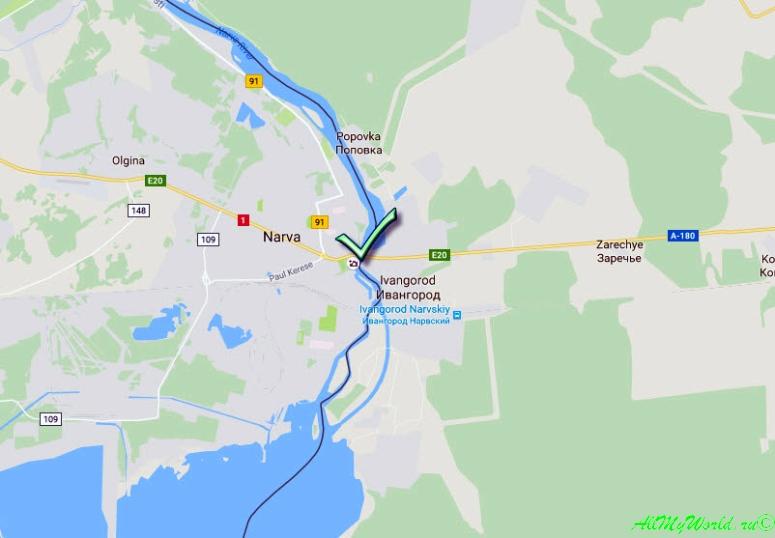 Российско-эстонская граница, пункт пропуска {amp}quot;Ивангород - Нарва{amp}quot;