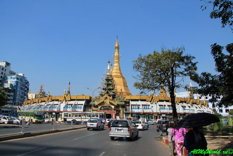 Город Янгон: достопримечательности столицы Мьянмы пагода Суле фото