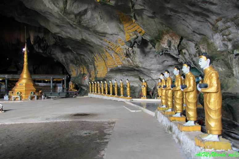 Восточная Мьянма: Моламьян пещера Садан