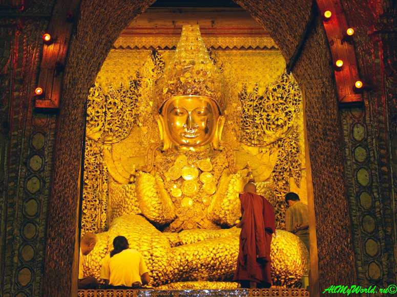 Мьянма город Мандалай пагода Махамуни фото