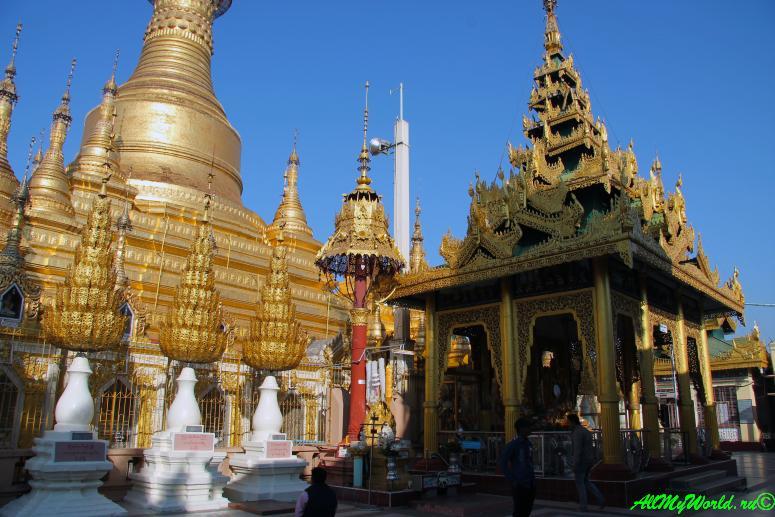 Мьянма город Пьи (Pyay), пагода Швесандо