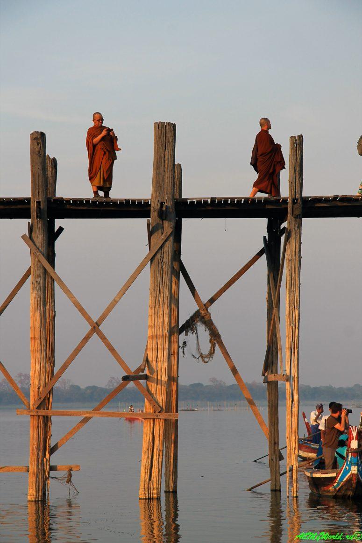 Мьянма, Амарапура, мост У-Бейн фото