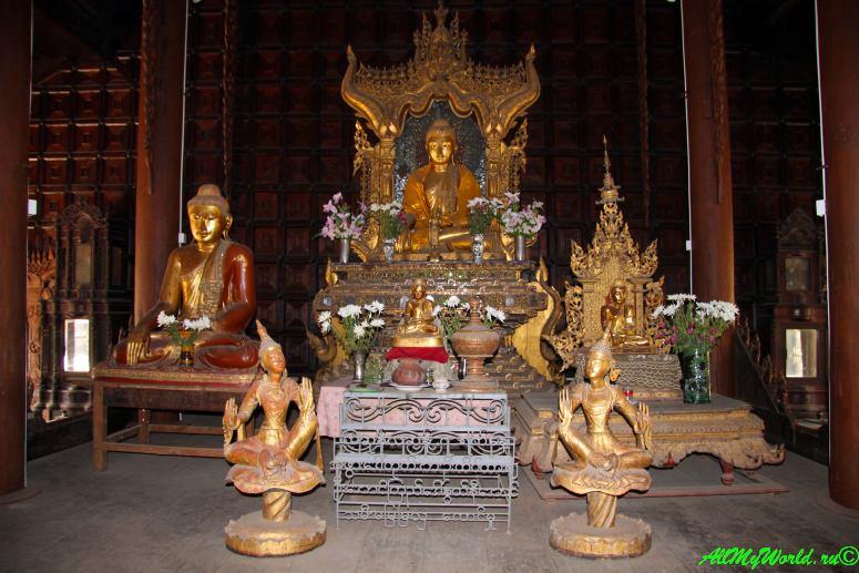 Мьянма город Мандалай монастырь Шве-инбин фото