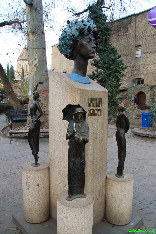 Старый Тбилиси район Кала памятник Софико Чиаурели