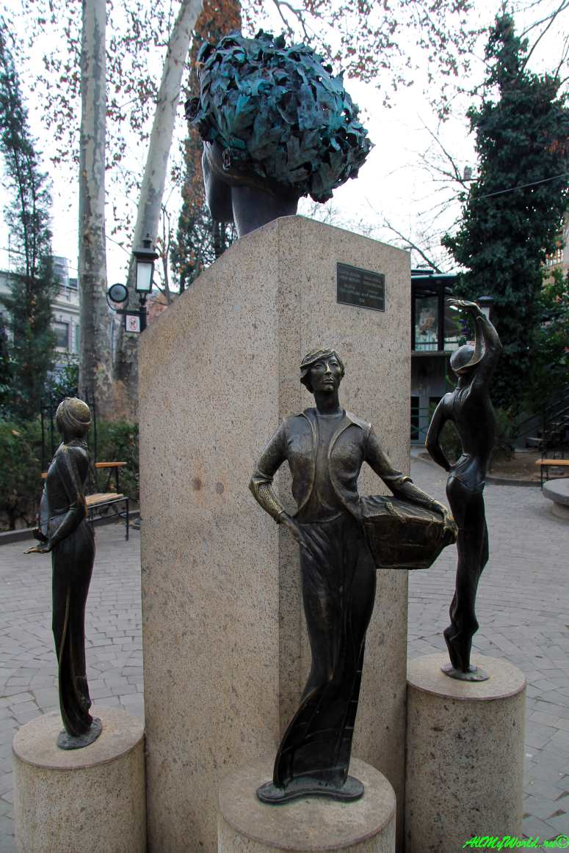 Тбилиси район Кала памятник Софико Чиаурели