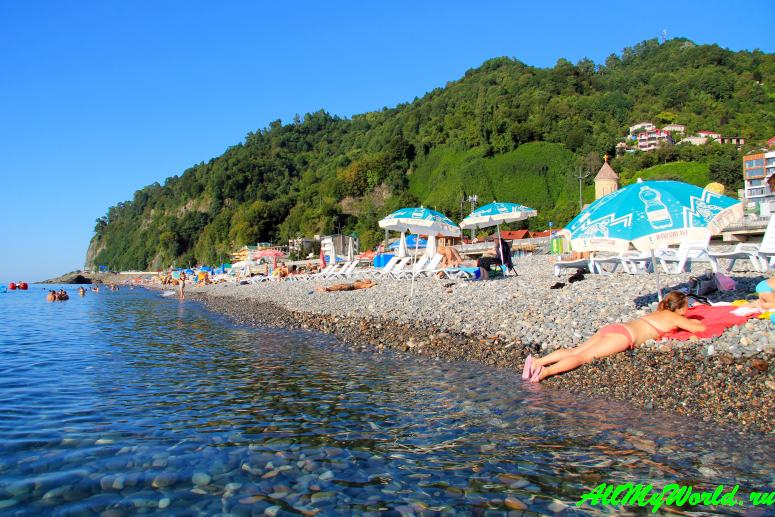 Пляж Сарпи – самое чистое море в Грузии