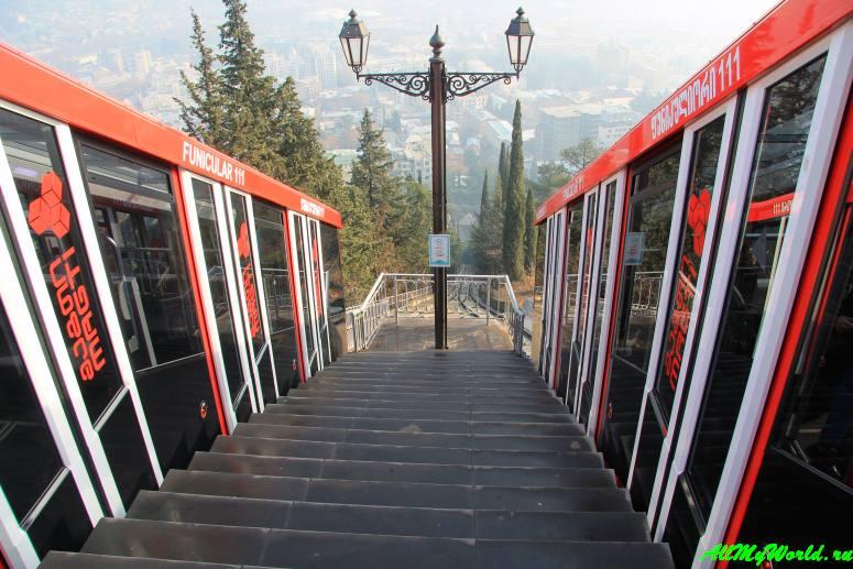 Достопримечательности Тбилиси - фуникулер на гору Мтацминда