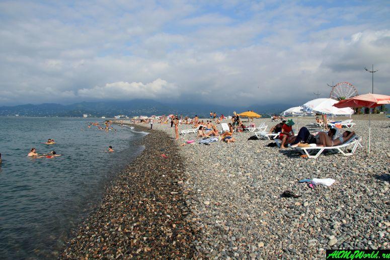Достопримечательности Батуми: пляж Батуми