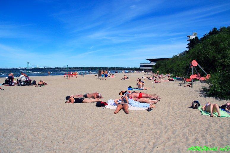 Достопримечательности Таллина - пляж Пирита