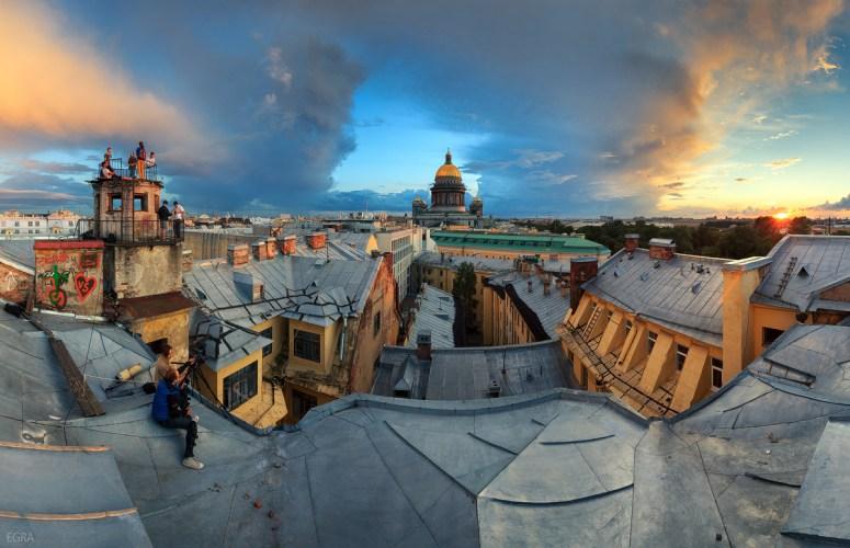 Достопримечательности Санкт-Петербурга - крыши