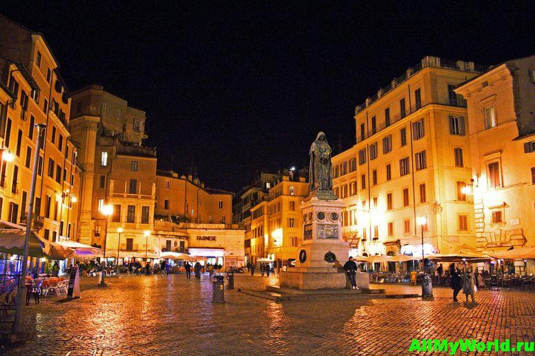 Достопримечательности Рима: Кампо-деи-Фьори