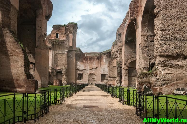 Достопримечательности Рима - термы Каракаллы