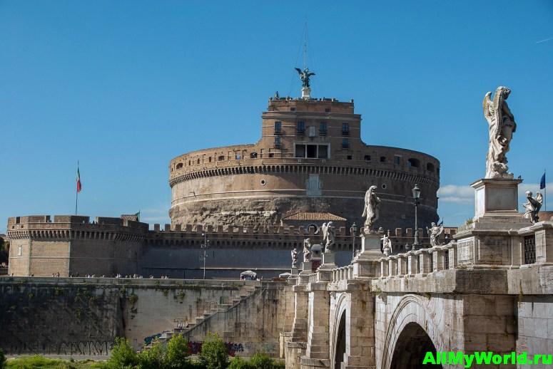 Достопримечательности Рима - замок Святого Ангела