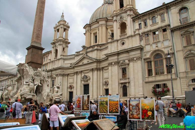 Достопримечательности Рима: площадь Навона
