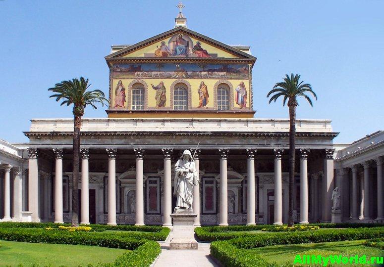 Достопримечательности Рима - базилика Сан-Паоло-фуори-ле-Мура