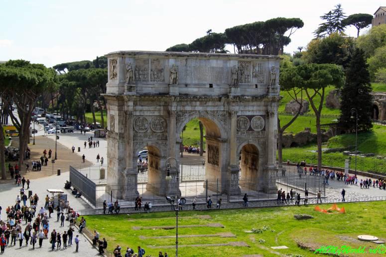 Достопримечательности Рима: триумфальная арка Константина