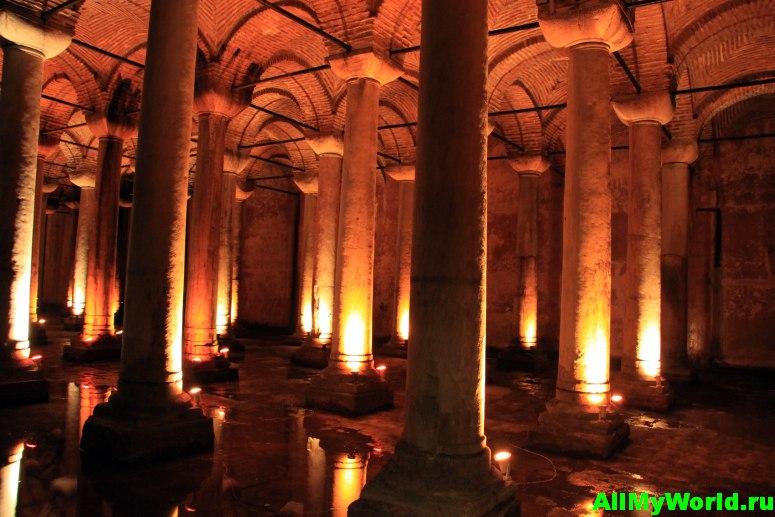 Достопримечательности Стамбула - Цистерна Базилика (Йеребатан-сарай)