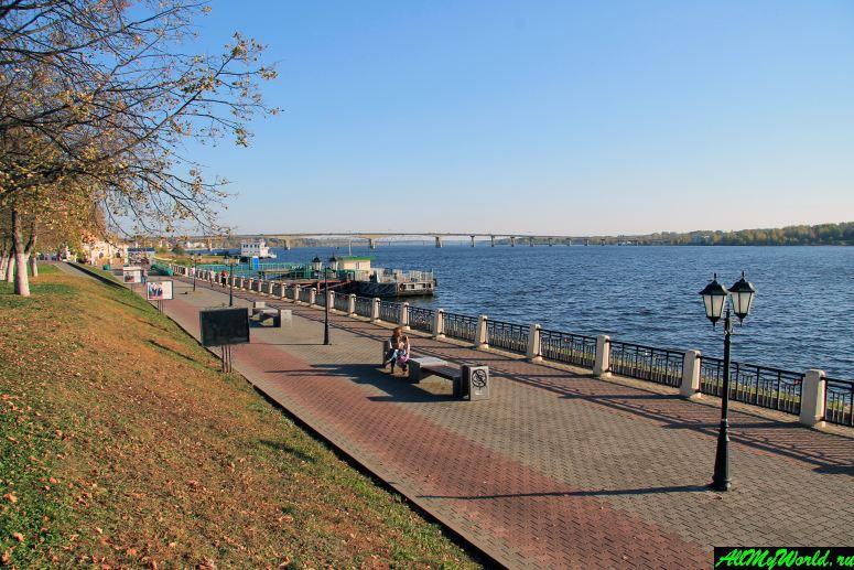 Достопримечательности Костромы: Волжская набережная