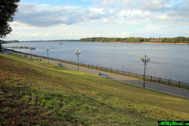 Достопримечательности Рыбинска: Рыбинская набережная