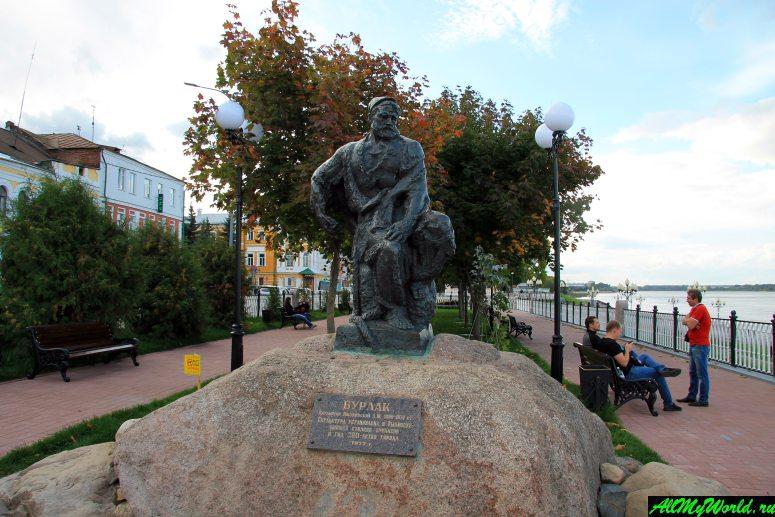 Достопримечательности Рыбинска: памятник бурлаку