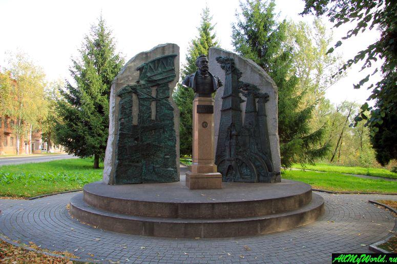 Достопримечательности Рыбинска: памятник Нобелю