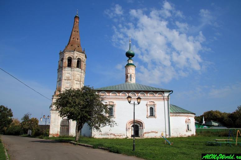 Достопримечательности Суздаля - Христорождественская и Никольская церкви