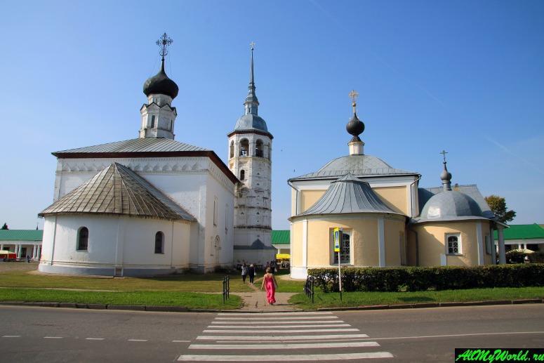 Достопримечательности Суздаля - Воскресенская и Казанская церкви