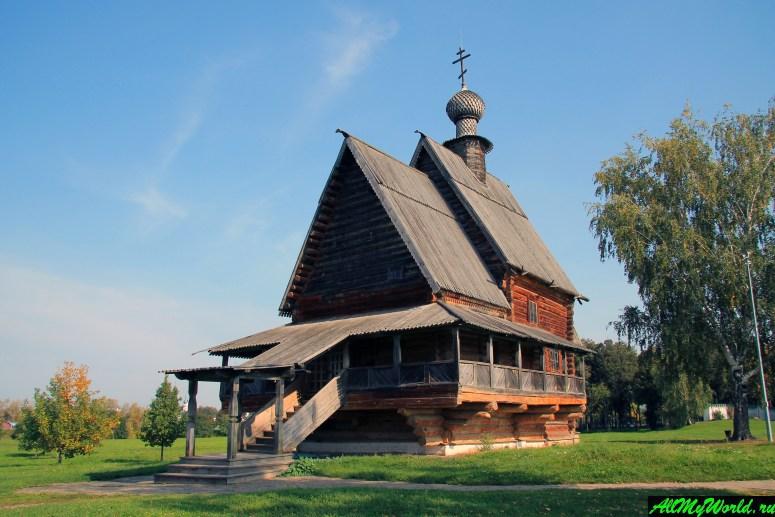 Достопримечательности Суздаля - деревянная Никольская церковь